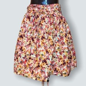 Vintage Midtown Floral Skirt Cotton size 10